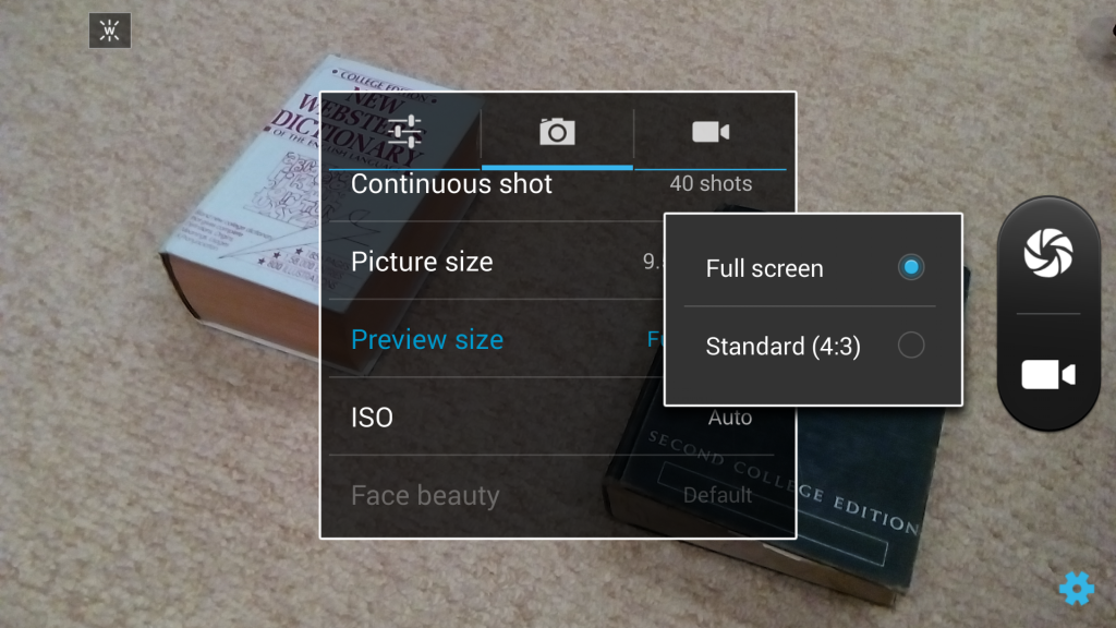 Select the HD (16:9) mode